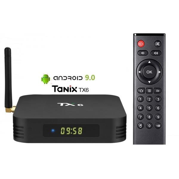 TANIX TX6 Allwinner H6 Android 9.0 4GB/64GB 4K TV Box with LED Display Dual Band WiFi LAN Bluetooth