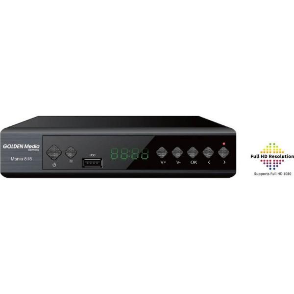 Επίγειος Δέκτης MPEG-4 Golden Media MANIA 818 T2 H.265 HEVC Επίγειοι Δέκτες Mpeg4
