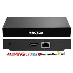 Infomir MAG520 IPTV SET-TOP BOX Linux 4.9, Amlogic S905X2 1 GB RAM, 4 GB eMMC Εικόνα-Ήχος