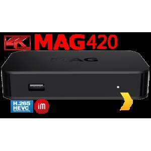 MAG 420 IP TV Internet Streamer HEVC H.265 4K UHD 60FPS Linux USB 3.0 LAN HDMI MAG-Wifi